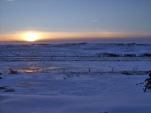 sunrise iceland hestheimar