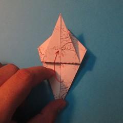 วิธีการพับกระดาษเป็นดาวสี่แฉก 015