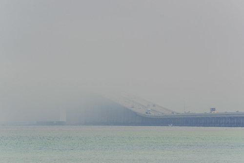 Marine Layer rolling through Sunshine Skyway Bridge - Timelapse 1/11