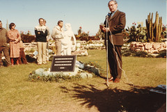Windsor Cactus Garden. A plaque to honour Joe Lowrey was dedicated by Rev Kelvin Benn 1984
