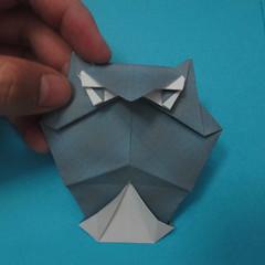 วิธีการพับกระดาษเป็นรูปนกเค้าแมว 027