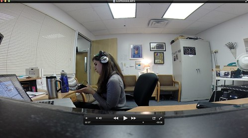 GoPro Test in my office
