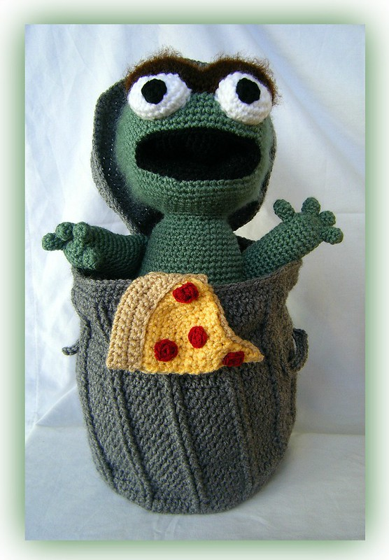 Oscar the Grouch (w pizza)
