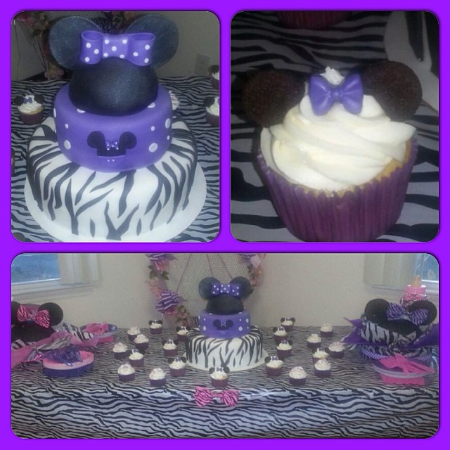 minnie mouse themed baby shower minniemouse cake cupcakes
