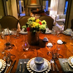 table, rehearsal dinner,