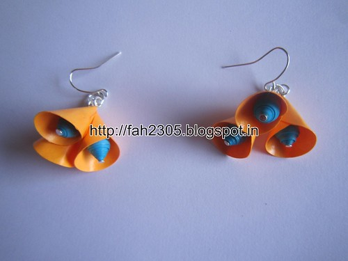 Handmade Jewelry - Paper Cone Bell Earrings (20) by fah2305