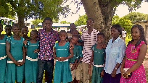 Some of the past students from the St Louis Jubilee School in Kentinkrono helping final year students from the Roman Catholic Primary and Junior High School in the remote town of Oku to prepare for their Basic Education Certificate Examination (BECE) exam