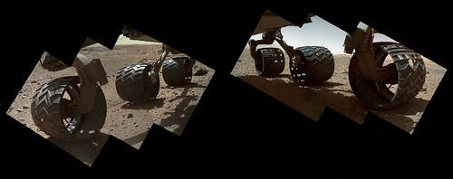 Curiosity sol 527 MAHLI - wheels mosaic