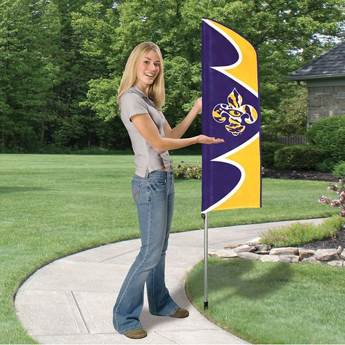 LSU Short Feather Flag