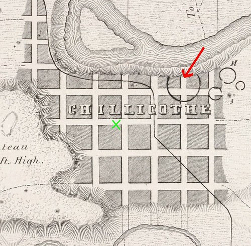 Detail, Map of a Section of Twelve Miles of the Scioto Valley with its Ancient Monuments