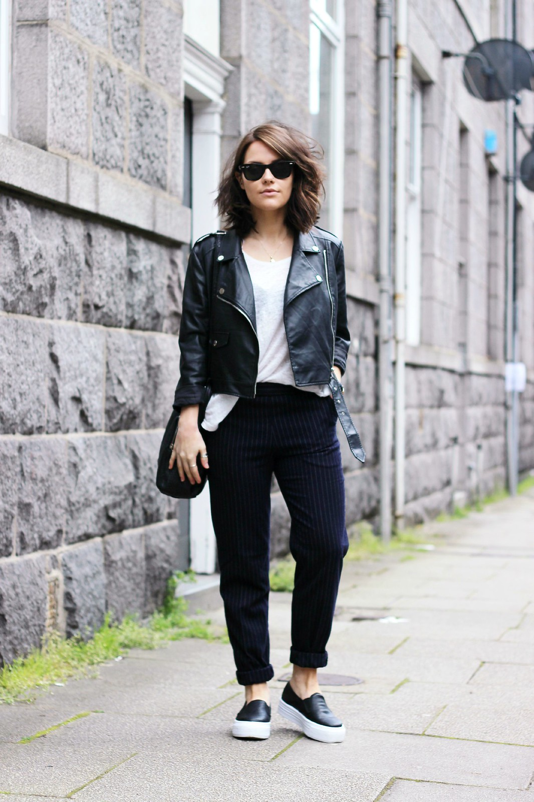 Missguided cropped biker jacket 1