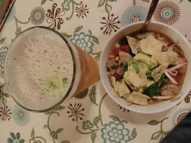 Pozole and cerveza