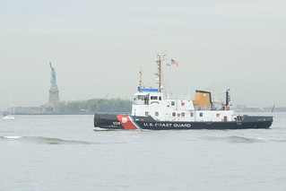 U.S. Navy ships and U.S. Coast Guard cutters, Station New York and Maritime Safety and Security Team New York, along with U.S. Army Corps of Engineers, New York Police Harbor units and Fire Department of New York's fireboat participated in the 2014 Fleet Week New York Parade of Ships, which took place in New York Harbor, today. . . Participating military ships included the Harpers Ferry-class dock landing ship USS Oak Hill (LSD 51), Arleigh Burke-class destroyers USS Cole (DDG 67 and USS McFaul (DDG 74), and U.S. Coast Guard cutters Campbell (WMEC 909), Katherine Walker (WLM 552), Thunder Bay (WTGB 108), and Sailfish (WPB 87356). . . Fleet Week New York, now in its 26th year, is the city's time-honored celebration of the sea services. It is an unparalleled opportunity for the citizens of New York and the surrounding tri-state area to meet Sailors, Marines and Coast Guardsmen, as well as witness firsthand the latest capabilities of today's maritime services. The week-long celebration has been held nearly every year since 1984. Nearly 1,500 Sailors, Marines and Coast Guardsmen are participating this year. U.S. Coast Guard photo by Petty Officer 2nd Class Jetta H. Disco