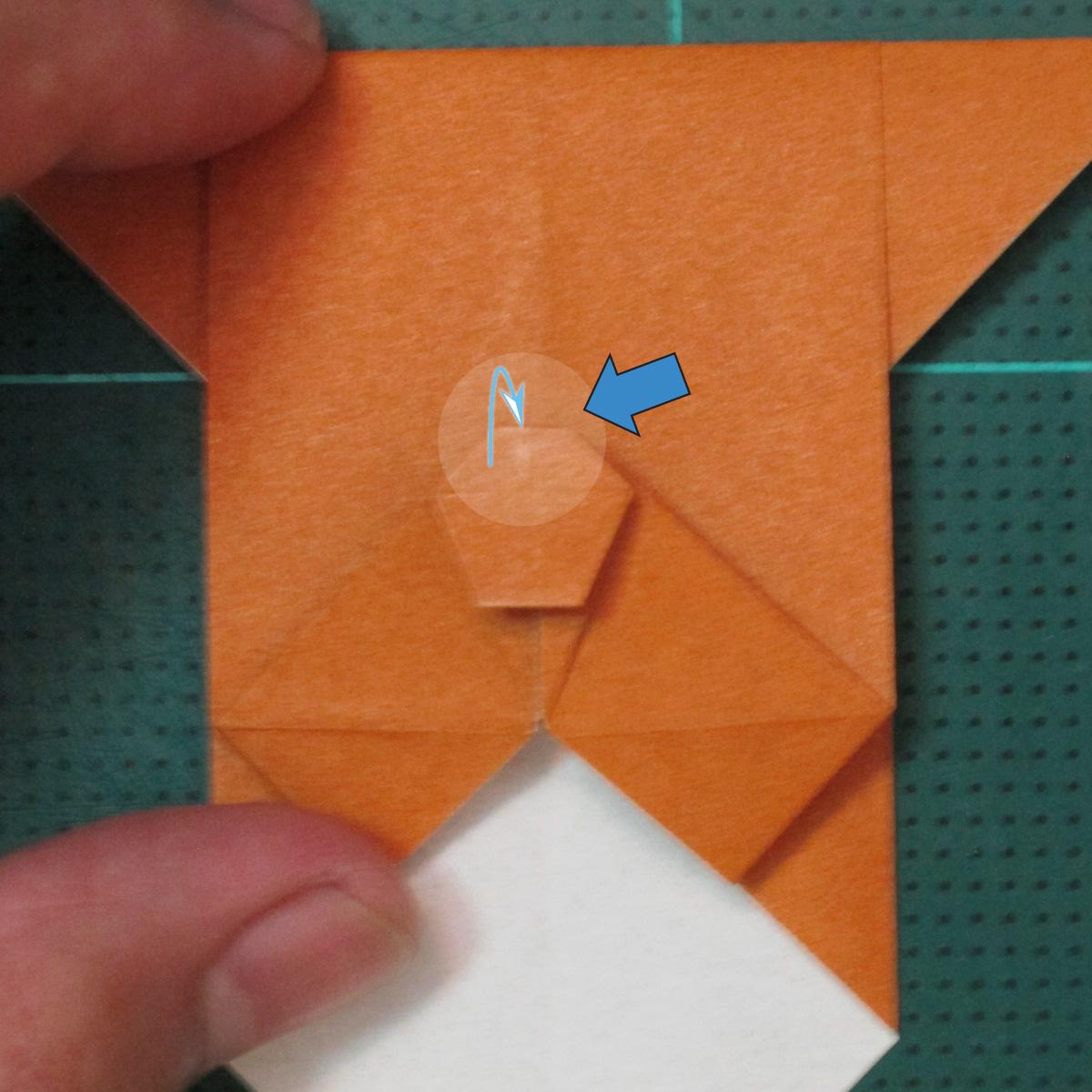 วิธีพับกระดาษเป็นที่คั่นหนังสือรูปหมาบูลด็อก (Origami Bulldog Bookmark) 015