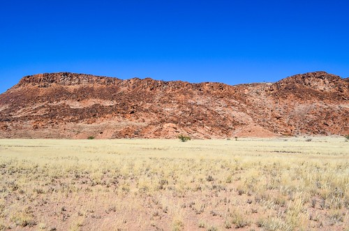 Red sandstone hills of Twyfelfontein, Namibia