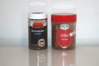 14 - Zutaten Koriander & Chili-Flocken / Ingredients coriander & chili flakes