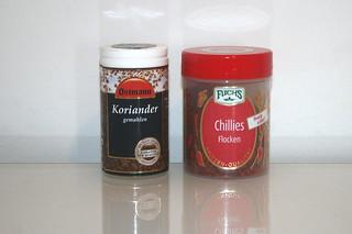 14 - Zutaten Koriander & Chili-Flocken / Ingredients coriander & chili flakes