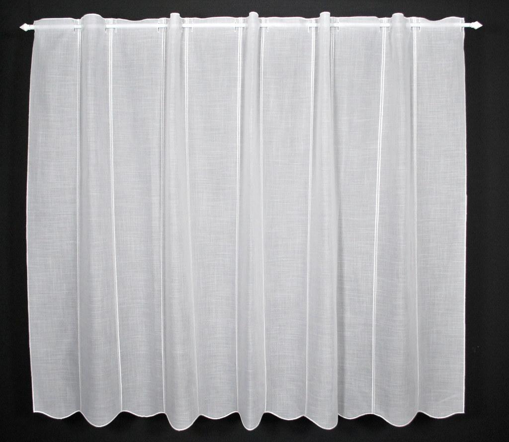 Scheibengardine Käseleinenoptik 120x16 Weiß Gardine Nach Maß