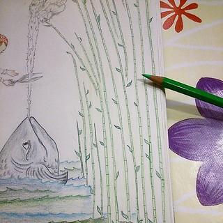 Une forêt de roseaux, deux forêts de roseaux... #stepbystep #illustration #instantanébureau #dessin #drawing #coloring