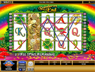 Rainbows End Free Spins Expanding Wild