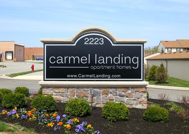 Carmel Landing Apartments Signage