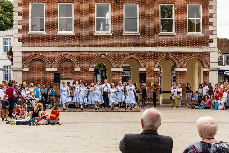 Dancing in Saxon Square