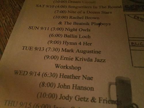 Ernie Krivda Jazz Workshop (9/13/16)