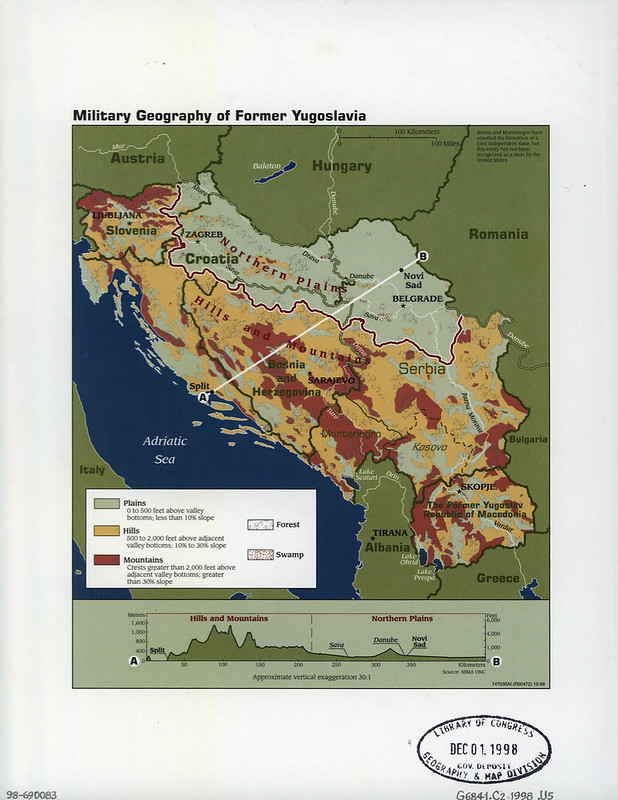 1998 Military Geography of Former Yugoslavia