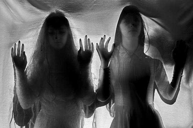 Through a veil