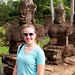 Molly at the South Gate to Angkor Thom