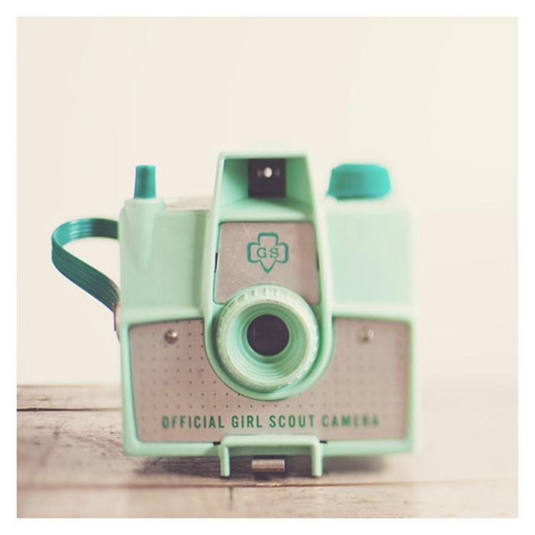 mint retro camera