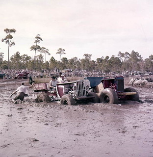 Mired in the muck at the inaugural Swamp Buggy Jubilee at Sarasota Fairgrounds