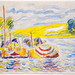 Mark Landis, American (b.1955), 'Untitled,' In the style of Paul Signac, date unknown, watercolor on paper. Property of the Oklahoma City Museum of Art, photograph by Shannon Kolvitz