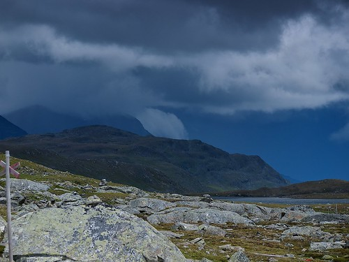 Storm clouds rising over Tarrekaise
