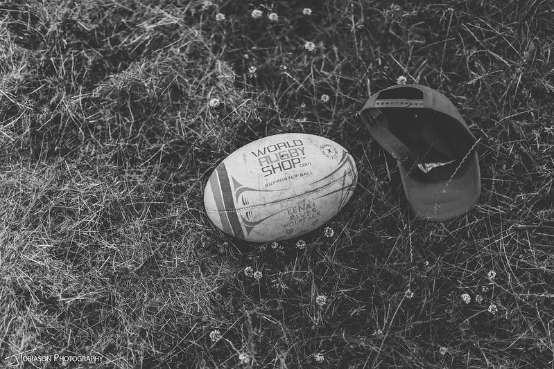 Rugby ball wedding day