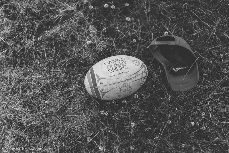 Rugby ball wedding day