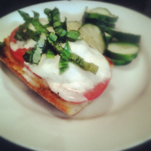 Tomato and Burrata Open-faced Sandwich