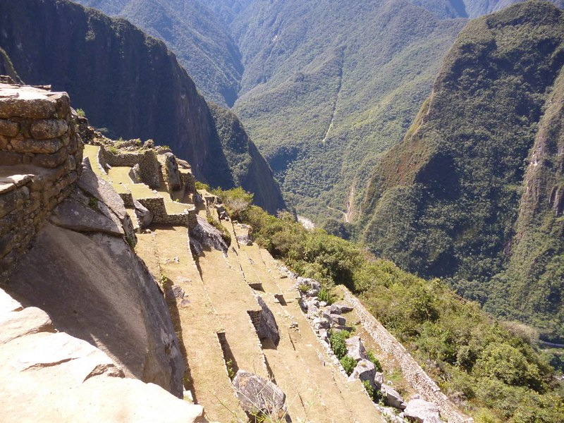 Inca terrace from above