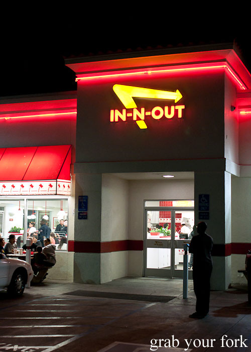 in-n-out burger on sunset boulevard la los angeles american fast food