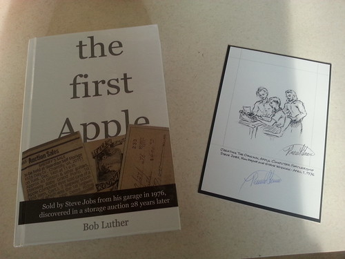 Bob Luther's The First Apple hardcover book and signed art arrived via Kickstarter.
