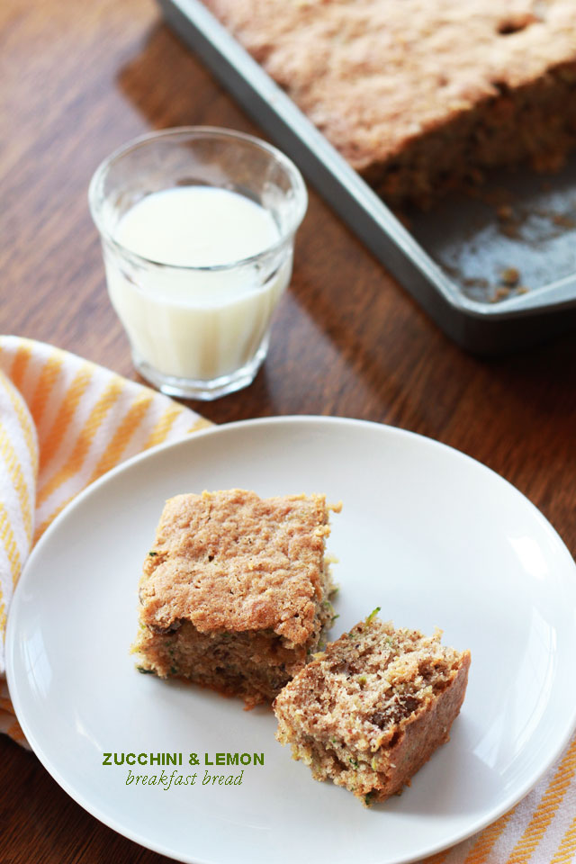 Zucchini & Lemon Breakfast Bread | Perpetually Chic for Made By Girl