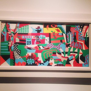 Fun piece by Stuart Davis - Arboretum by Flashbulb #abstract #met #art #nyc #dunnomuchbutsurecanappreciatethecolors #latergram