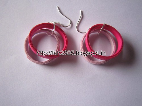 Handmade Jewelry - Paper Quilling Doulble Rings Earrings (1) by fah2305