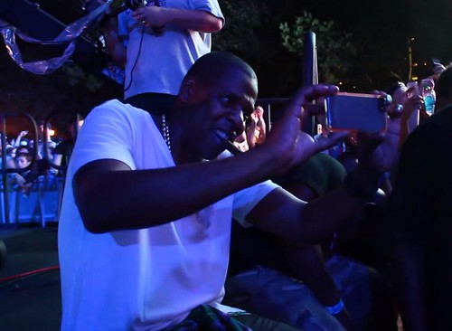 Jay Z Takes In Deadmau5 at Made In America Festival