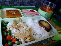 ekiben(0.0), meal(1.0), lunch(1.0), steamed rice(1.0), rice(1.0), food(1.0), dish(1.0), cuisine(1.0), bento(1.0),