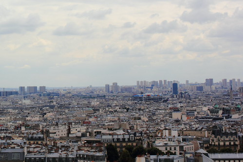 Roofs of Paris as seen from Sacre Coeur, Montmartre, Paris