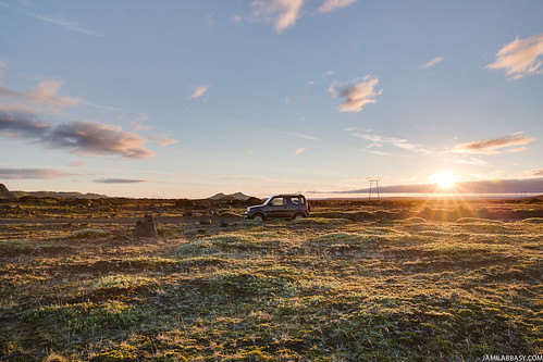 sunset iceland south landmannalaugar