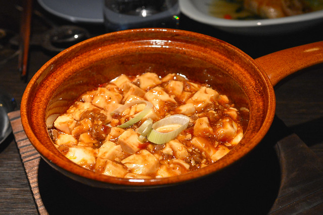 Mabo tofu with beef and Szechuan pickled vegetable