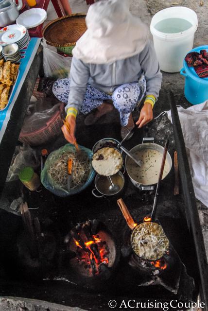 Making Banh Trang