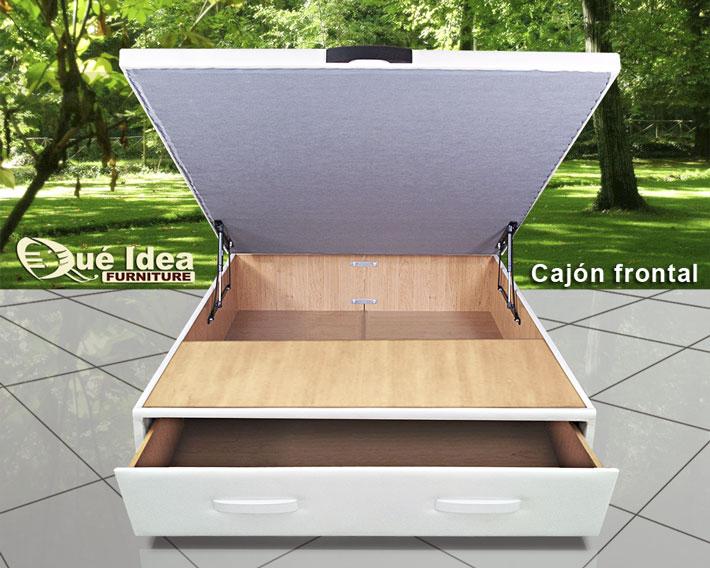 Cama con cajones qu idea hogar for Canape bases ideas